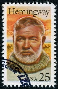 """Richmond, Virginia, USA - December 4th, 2012: Cancelled Stamp From The United States Featuring The Author, Ernest Hemingway."""